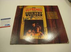 DIANA ROSS & MARY WILSON Signed SUPREMES SING COUNTRY WESTERN & Album w/ PSA COA