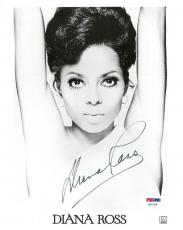 Diana Ross Signed  Authentic Autographed 8x10 B/W Photo PSA/DNA #AD61438