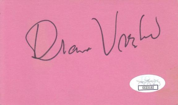 DIANA VREELAND d.1989 Signed 3X5 Index Card Columnist JSA CC22152