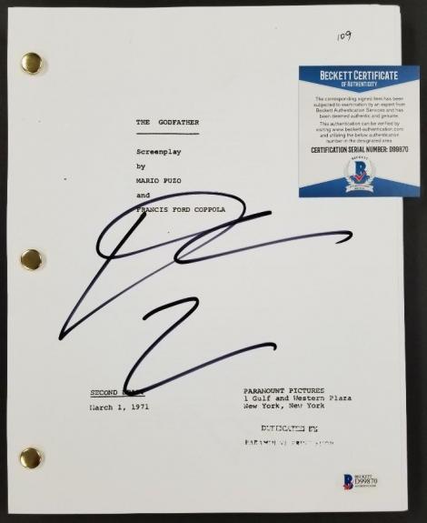 DIANE KEATON Autograph Signed THE GODFATHER full Movie Script ~ Beckett BAS COA