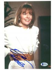 """Diane Keaton Autographed 8""""x 10"""" The First Wives Club Pearl Necklace Photograph - Beckett COA"""