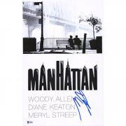 "Diane Keaton Manhattan Autographed 12"" x 18"" Movie Poster - BAS"