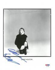 Diane Keaton Signed Authentic Autographed 8x10 B/W Photo PSA/DNA #AD14896
