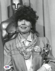 Diane Keaton Signed Authentic Autographed 8x10 B/W Photo PSA/DNA #AD22279