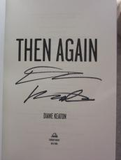Diane Keaton signed Book Then Again Godfather Actress