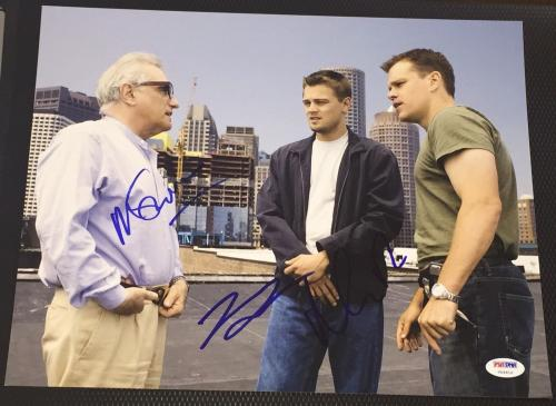 "Dicaprio & Damon & Scorsese Signed ""the Departed"" New 11x14 Photo Psa/dna V04610"