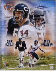 Chicago Bears Butkus/Urlacher Signed 16'' x 20'' Photo - Mounted Memories