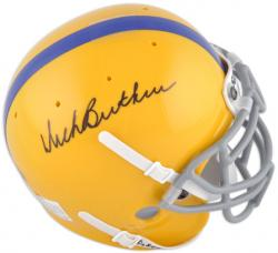 Dick Butkus Autographed High School Authentic Mini Helmet - Mounted Memories