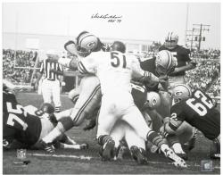Dick Butkus Chicago Bears Autographed 16'' x 20'' Packer Pile Photograph with HOF 79 Inscription - Mounted Memories