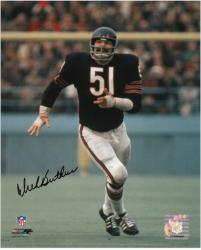 Dick Butkus Chicago Bears Autographed 8'' x 10'' Smiling Photograph - Mounted Memories