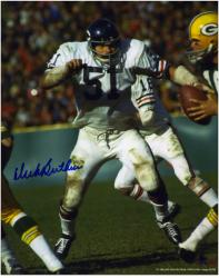 Dick Butkus Chicago Bears Autographed 8'' x 10'' Blue Ink vs Green Bay Packers Photograph - Mounted Memories