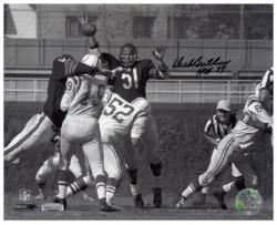 Dick Butkus Chicago Bears Autographed 8'' x 10'' Unitas Swat Photograph with HOF 79 Inscription - Mounted Memories
