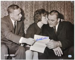 Dick Butkus Chicago Bears Contract Signing Autographed 16'' x 20'' Photograph - Mounted Memories