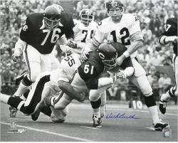 Dick Butkus Chicago Bears Autographed 16'' x 20'' with Terry Bradshaw Photograph - Mounted Memories