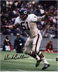 Dick Butkus Chicago Bears Autographed 8'' x 10'' Photograph - Mounted Memories
