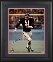 "Dick Butkus Chicago Bears Framed Autographed 16"" x 20"" Action Photograph"