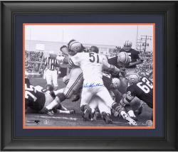 "Dick Butkus Chicago Bears Framed Autographed 16"" x 20"" Green Bay Packers Pile Photograph"