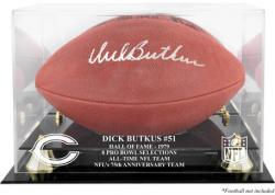 Dick Butkus Chicago Bears Hall of Fame 1979 Golden Classic Football Case with Mirror Back - Mounted Memories