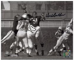 Dick Butkus Chicago Bears Autographed 8'' x 10'' Horizontal Unitas Swat Black Ink Photograph - Mounted Memories