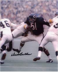 Dick Butkus Chicago Bears Autographed 8'' x 10'' vs Pittsburgh Steelers Photograph - Mounted Memories