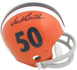 Dick Butkus Illinois Fighting Illini Autographed Riddell Mini Helmet - Mounted Memories