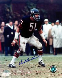 "Dick Butkus Chicago Bears Autographed 8"" x 10"" Stance Photograph"