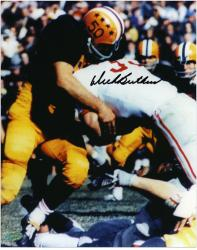 "Dick Butkus Illinois Fighting Illini Autographed 8"" x 10"" Tackling Photograph"