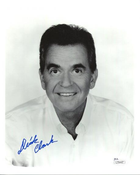 DICK CLARK HAND SIGNED 8x10 PHOTO    AMERICAN BANDSTAND     AWESOME      JSA