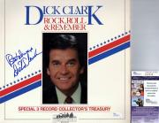 Dick Clark Signed - Autographed Rock Roll and Remember LP Record Album Cover - Deceased 2012 - JSA Certificate of Authenticity