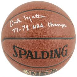 Washington Bullets Dick Motta Autographed Basketball - Mounted Memories