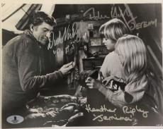 DICK VAN DYKE Adrian Hall Heather Ripley Signed Chitty Bang Bang Photo BAS COA K