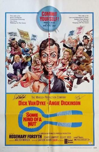 Dick Van Dyke Angie Dickinson signed Some Kind of Nut 27x41 Movie Poster PSA COA