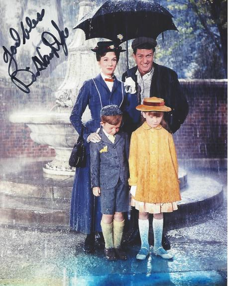 """DICK VAN DYKE as BERT in 1964 Movie """"MARY POPPINS"""" Signed 8x10 Color Photo"""