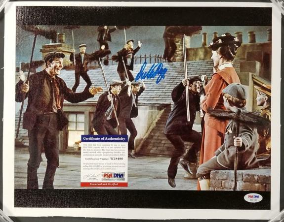 Dick Van Dyke autograph signed Mary Poppins 11x14 Canvas Photo #11 ~ PSA/DNA COA