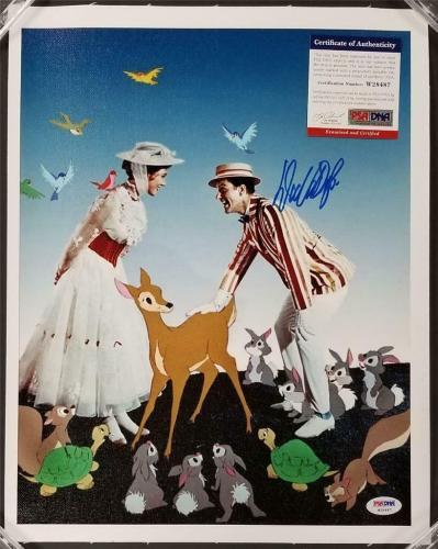 Dick Van Dyke autograph signed Mary Poppins 11x14 Canvas Photo #4 ~ PSA/DNA COA