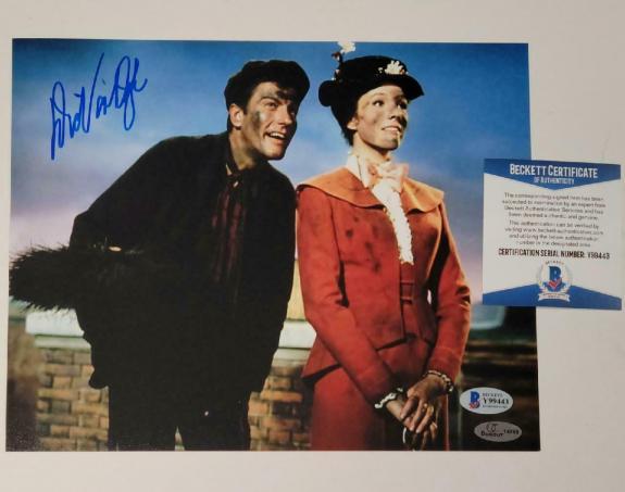 Dick Van Dyke autograph signed Mary Poppins 8x10 Photo #4 ~ BAS COA