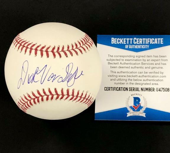Disney Mary Poppins actor Dick Van Dyke autograph signed MLB Baseball PSA COA