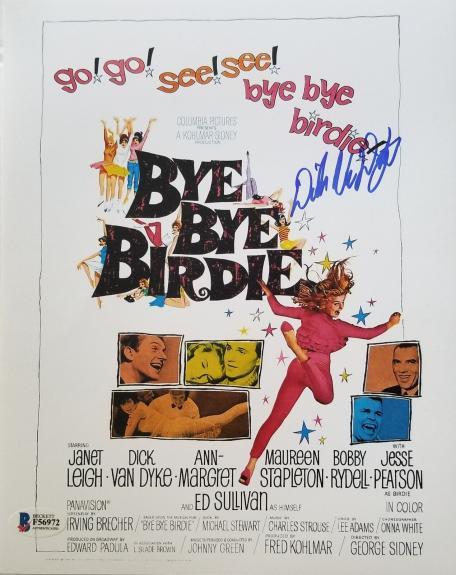 DICK VAN DYKE BYE BYE BIRDIE Signed 8x10 Photo Beckett BAS COA AUTO