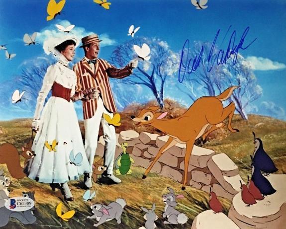 DICK VAN DYKE DISNEY'S MARY POPPINS Signed 8x10 Photo Beckett BAS COA AUTO G
