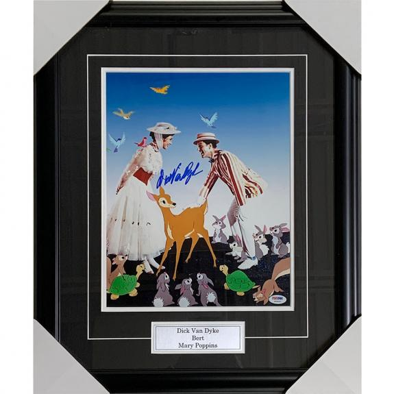 Dick Van Dyke Framed Autographed 'Mary Poppins' 11X14 Photo