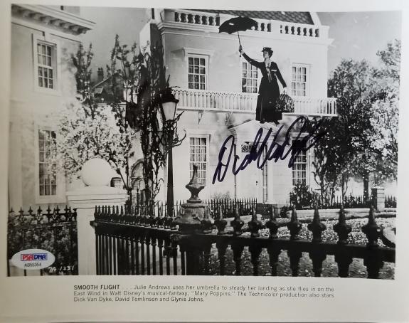 DICK VAN DYKE Hand Signed Original 1963-64 Mary Poppins 8x10 Photo 4 PSA/DNA COA