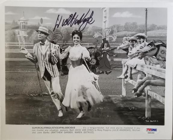 DICK VAN DYKE Hand Signed Original 1963-64 Mary Poppins 8x10 Photo PSA/DNA COA!