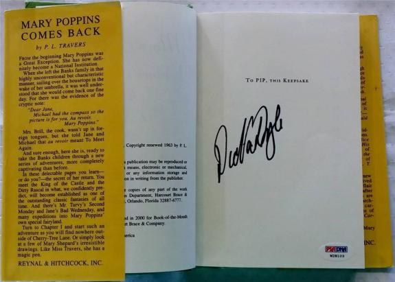 Dick Van Dyke Mary Poppins Comes Back Signed Auto Book Psa/dna Disney 2000