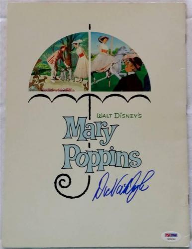 Dick Van Dyke Mary Poppins Signed Auto Golden Press Book Psa/dna Disney (b)