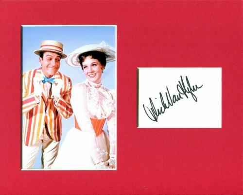 Dick Van Dyke Mary Poppins Signed Autograph Photo Display With Julie Andrews