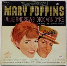 Dick Van Dyke Mary Poppins Sound Track Album Record Cover Signed Auto Psa/dna