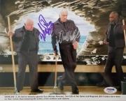 Dick Van Dyke Mickey Rooney Signed 8x10 Photo Night At The Museum Auto Psa Coa B