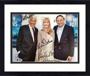 DICK VAN DYKE + RICHARD M. SHERMAN + DOTRICE Signed 8x10 Photo ~ Beckett BAS COA