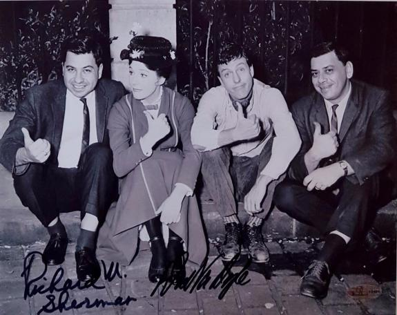 DICK VAN DYKE & RICHARD SHERMAN Signed Disney Mary Poppins 8x10 Photo ~ OC COA M