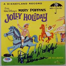 Dick Van Dyke Richard M. Sherman Signed Mary Poppins 45 RPM Record Cover PSA